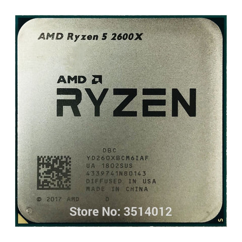 AMD Ryzen 5 2600X R5 2600X 3.6 GHz Six-Core Twelve-Core 95W CPU Processor YD260XBCM6IAF Socket AM4