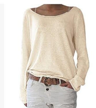Load image into Gallery viewer, Casual O Neck Long Sleeve Tops