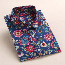 Load image into Gallery viewer, Flower Print casual shirt