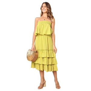 Sexy Backless Solid Color Bohemian Summer Dress Women 2019 Yellow Red Off Shoulder Beach Sleeveless Two-Piece Set Dresses Ladies