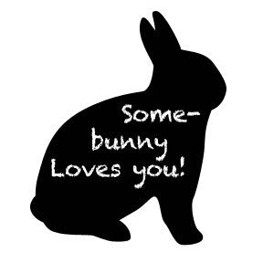 Bunny Chalk Decal