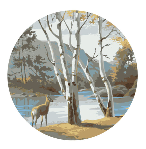 Deer Scenery Paint By Number Inspired