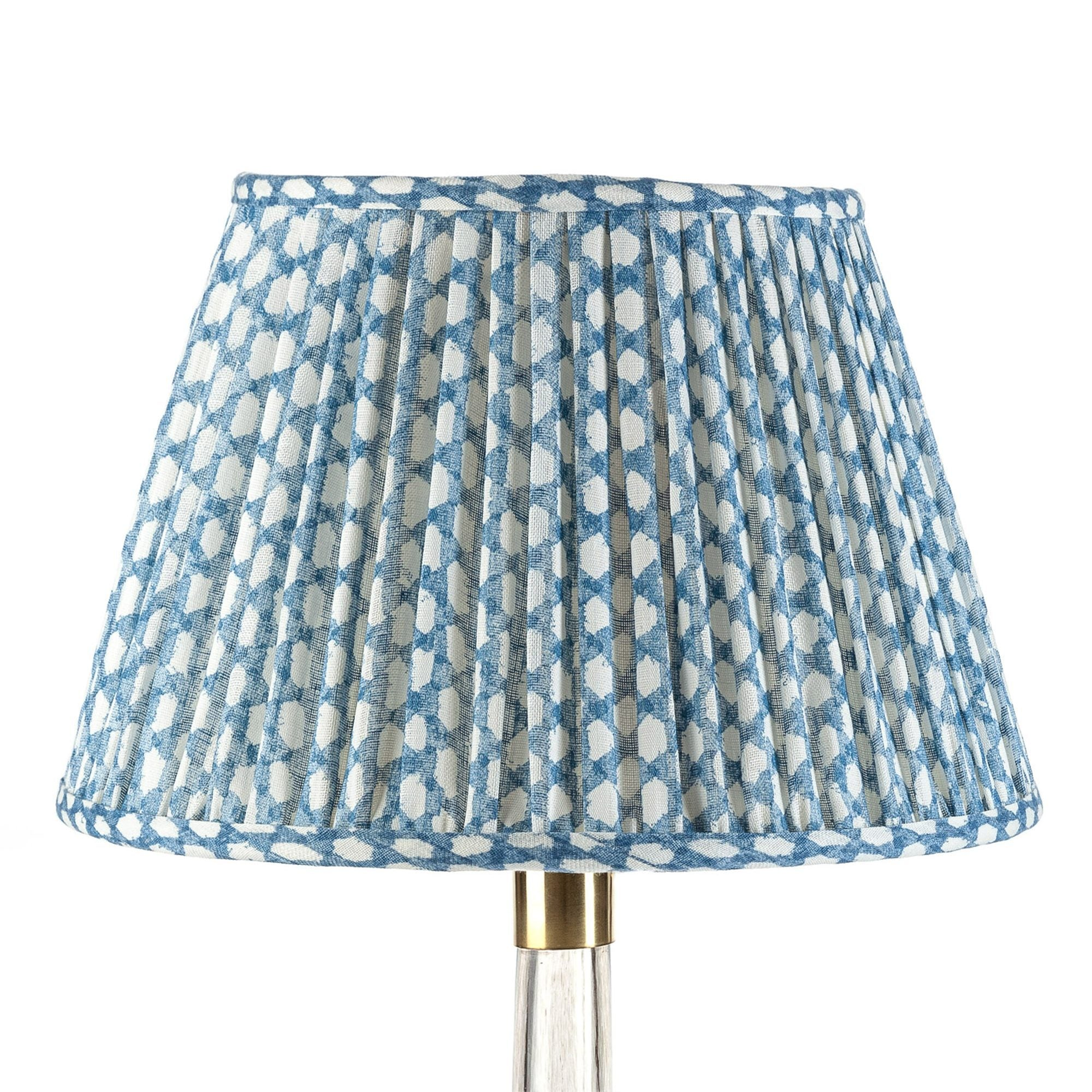 Fermoie Lampshade in Blue Wicker