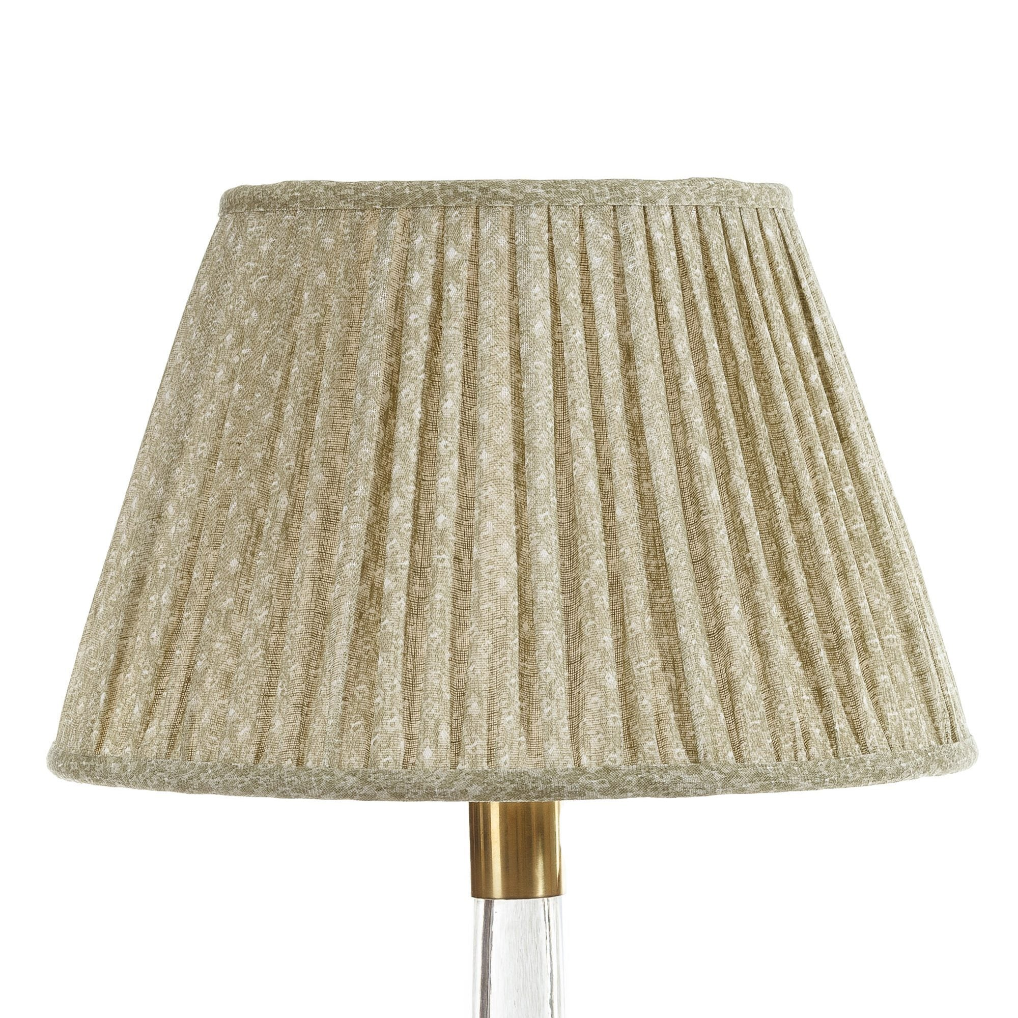 Fermoie Lampshade in Green Figured