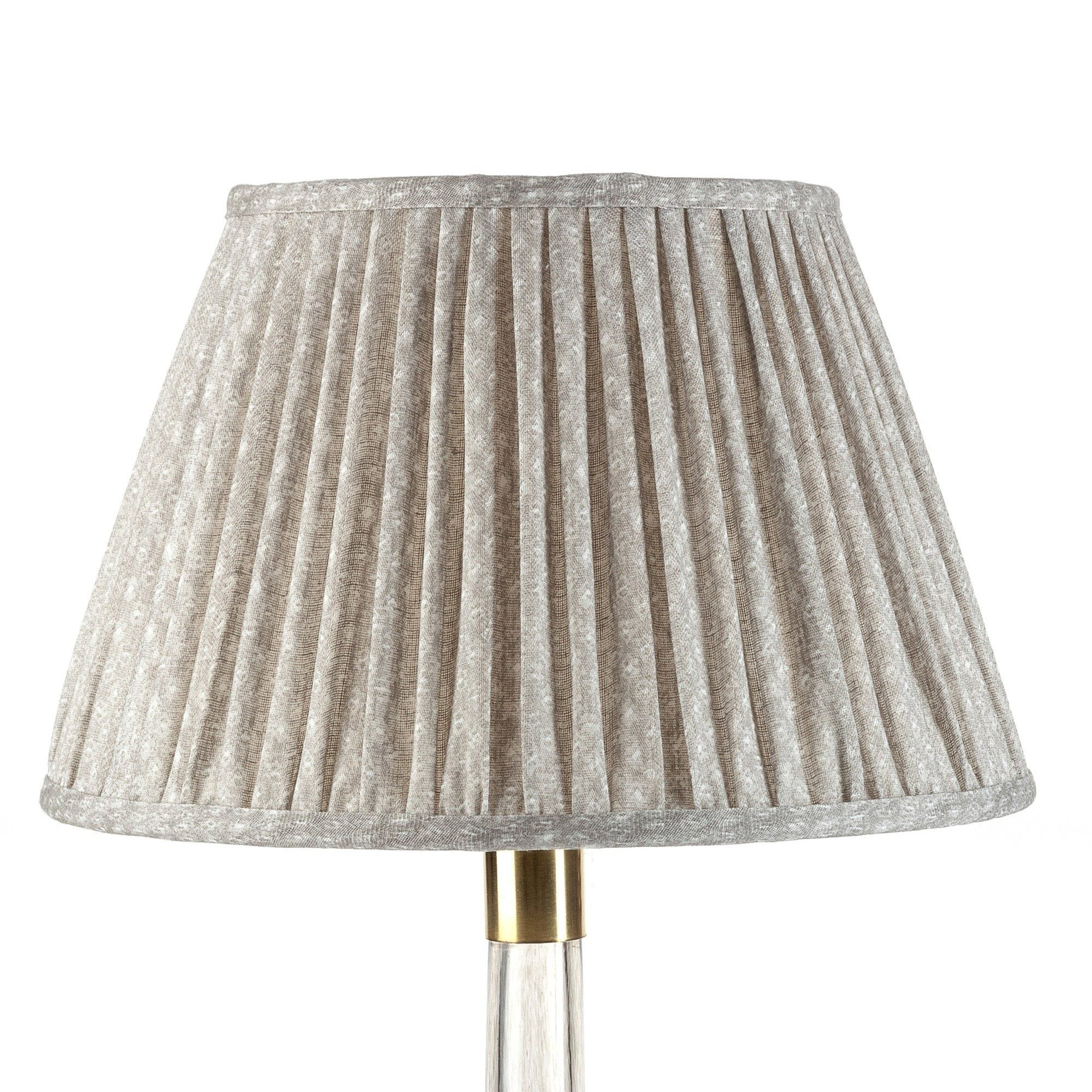 Fermoie Lampshade in Grey Figured