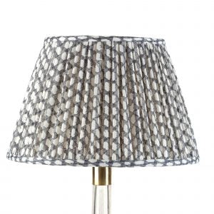 Fermoie Lampshade in Grey Wicker
