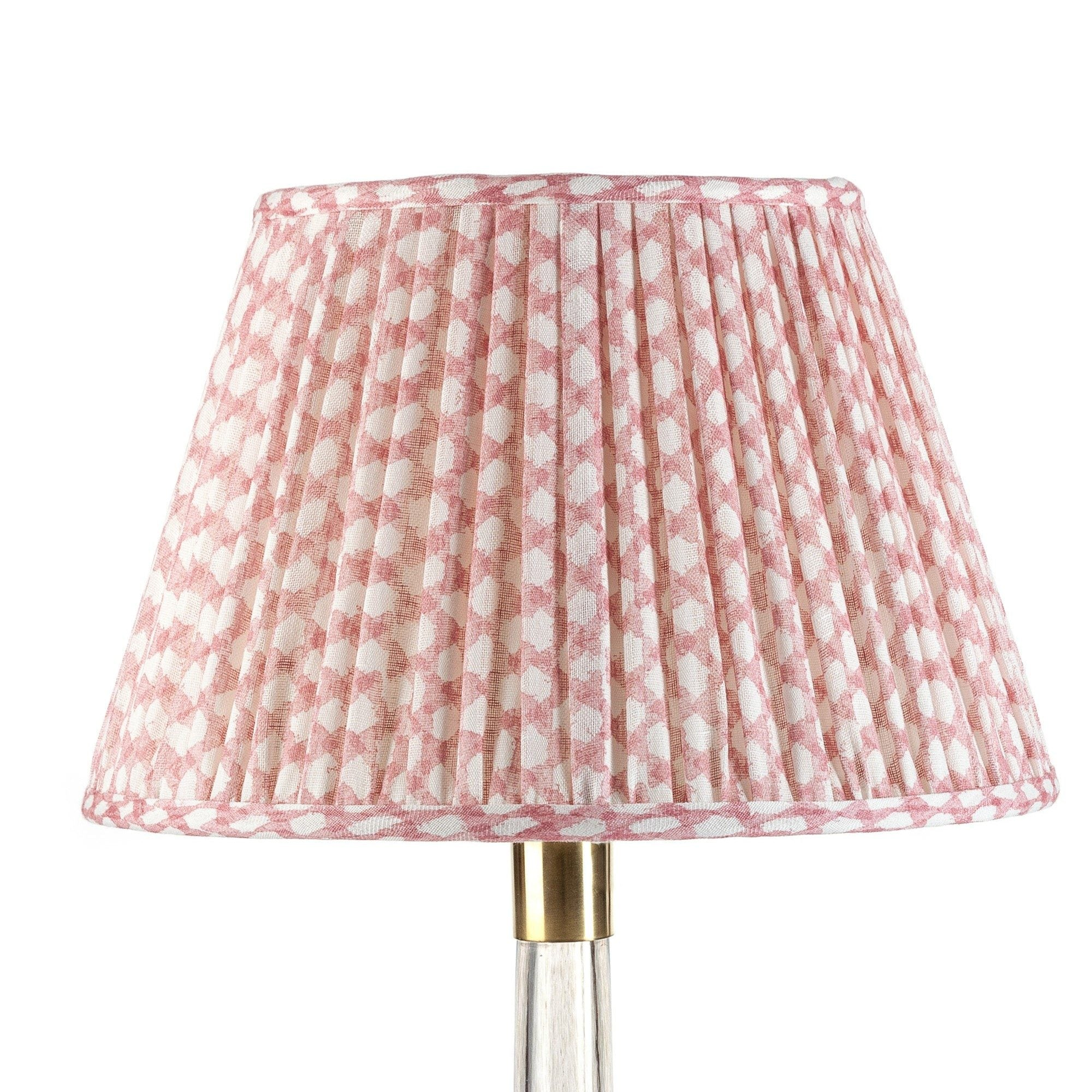 Fermoie Lampshade in Pink Wicker