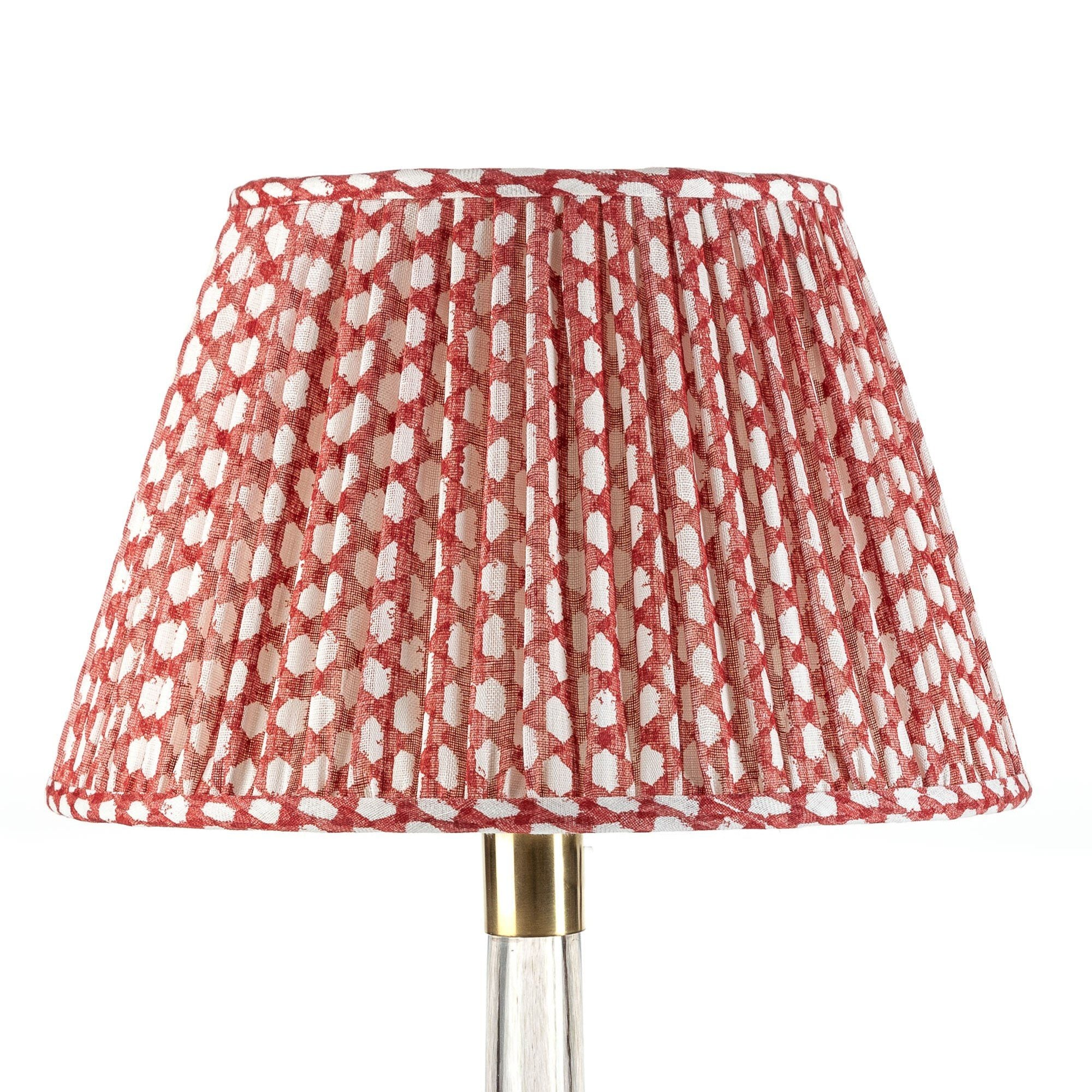 Fermoie Lampshade in Red Wicker
