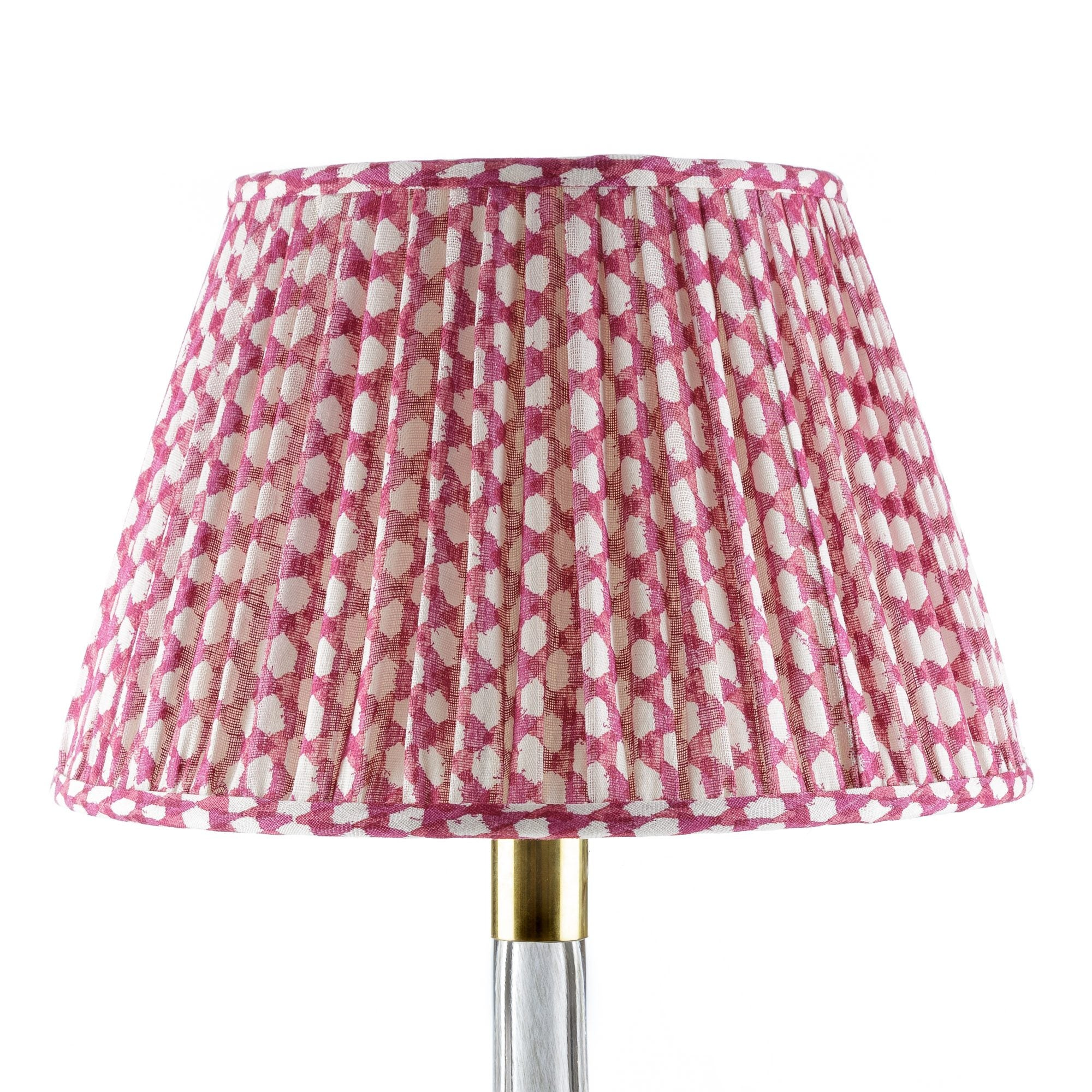 Fermoie Lampshade in Fuchsia Wicker