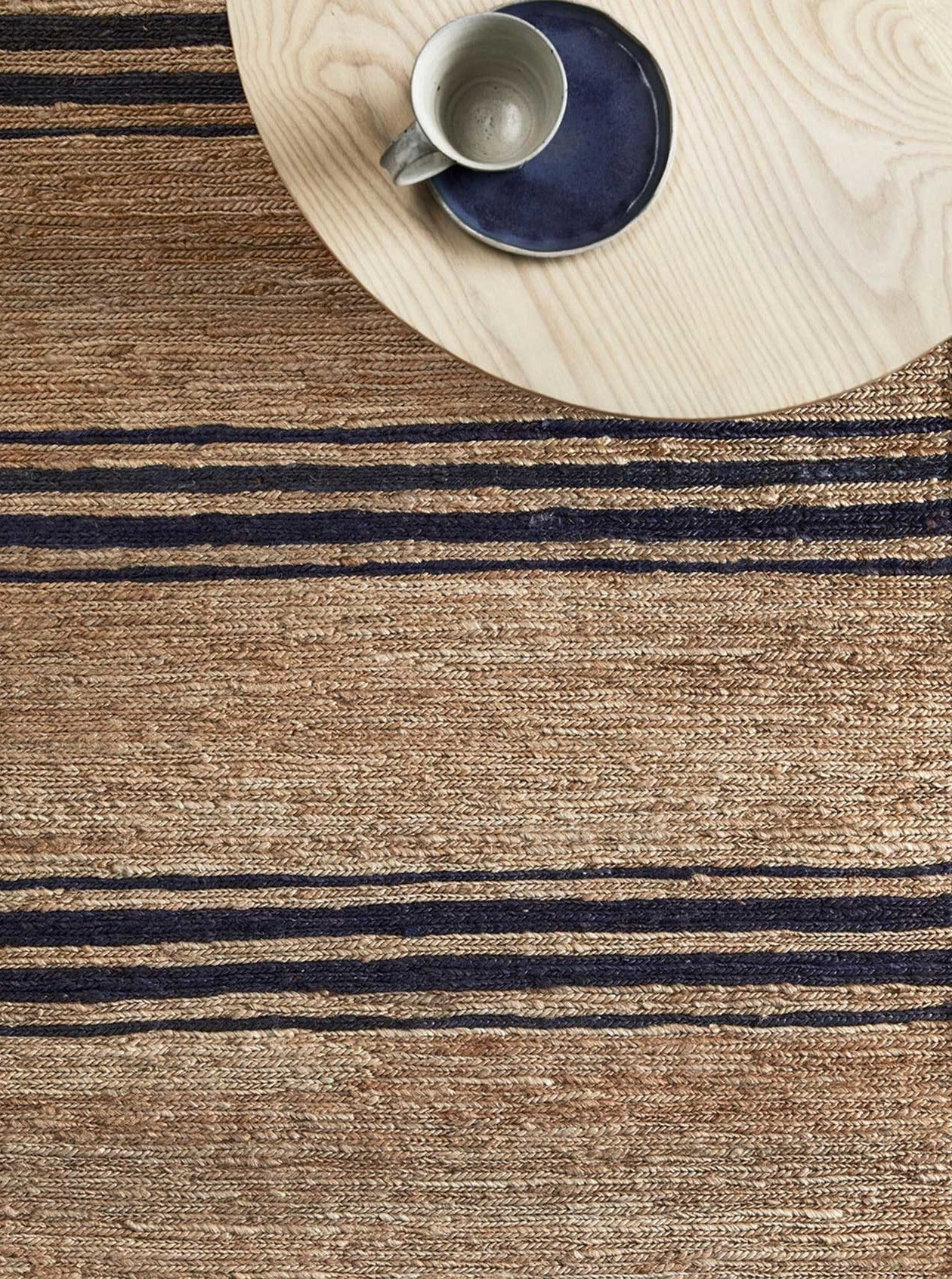 Armadillo River Ticking Stripe - Natural & Indigo