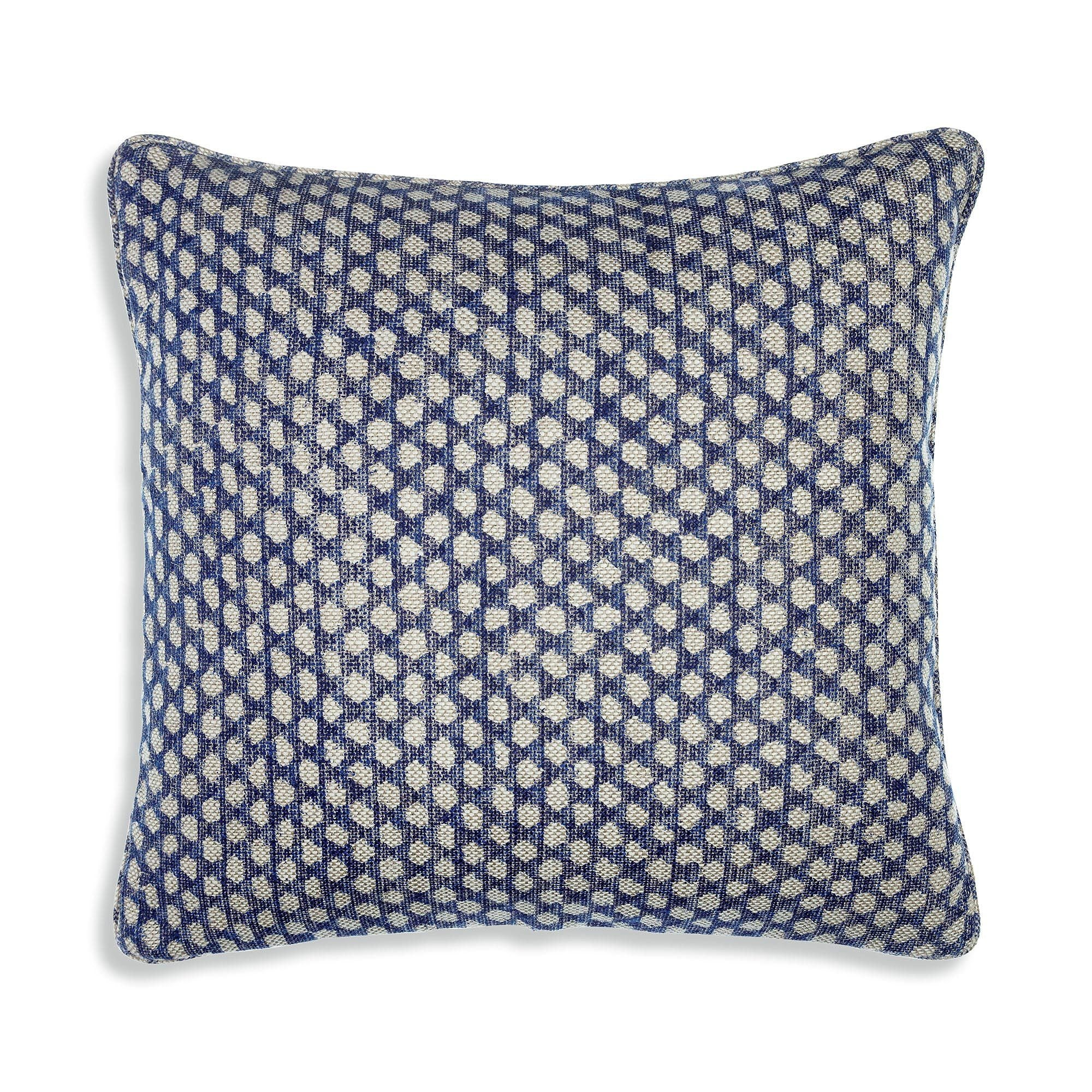 Fermoie Cushion in Blue Wicker