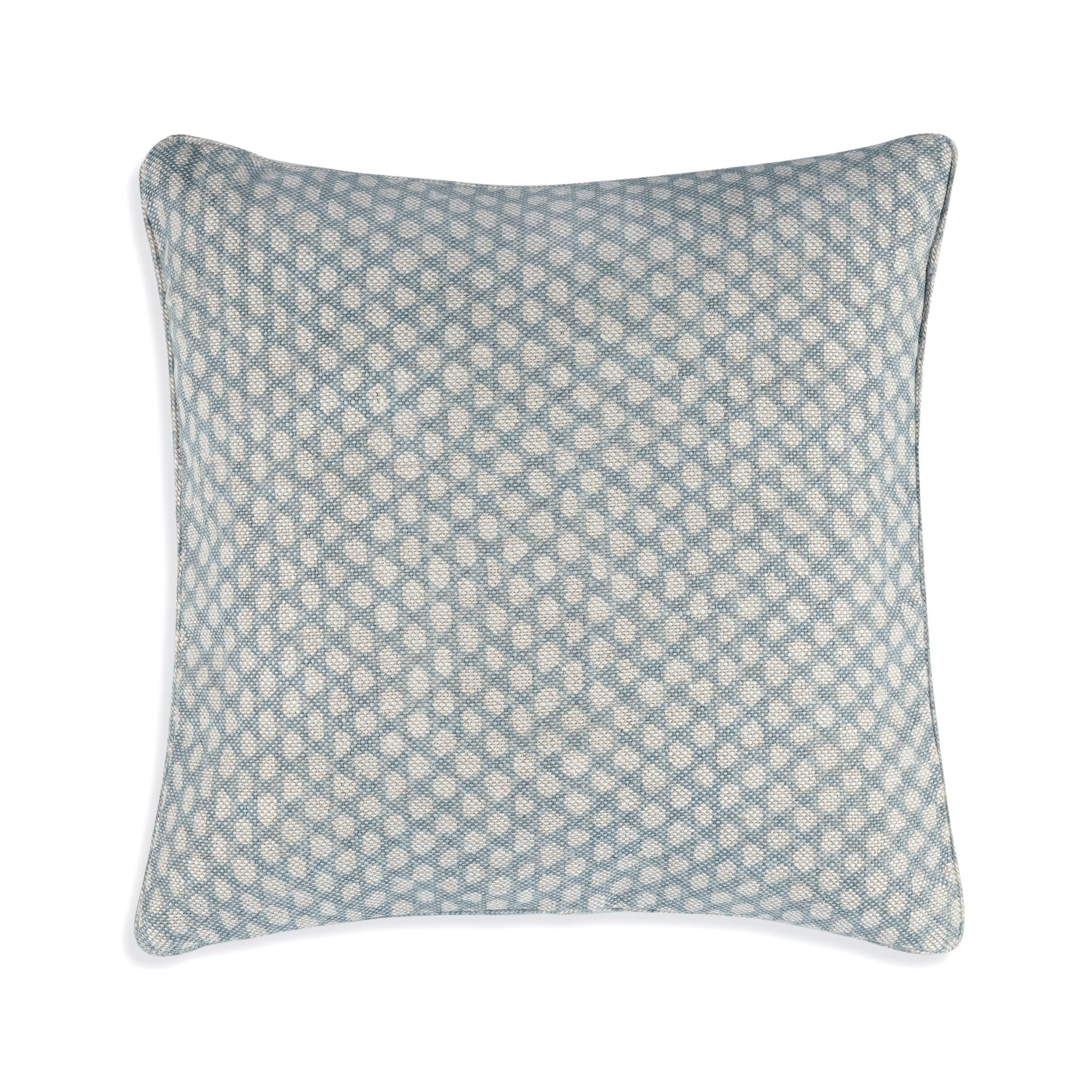Fermoie Cushion in Light Blue Wicker