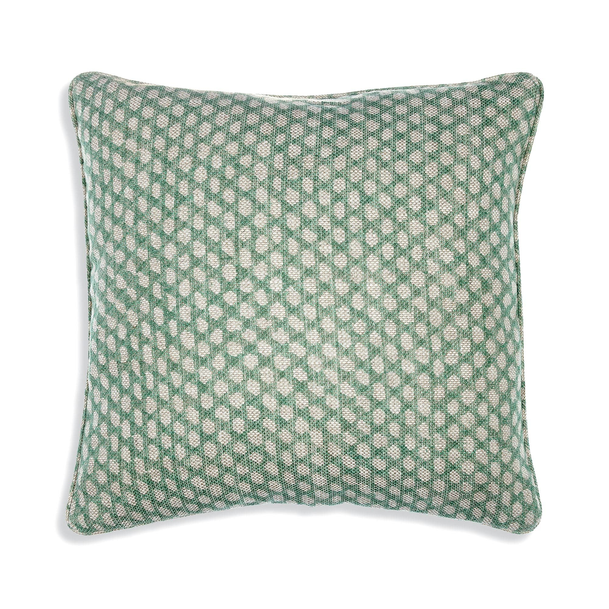 Fermoie Cushion in Green Wicker