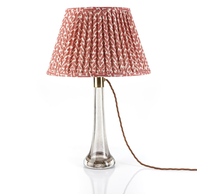 Fermoie Lampshade in Red Rabanna