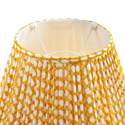 Fermoie Lampshade in Yellow Wicker
