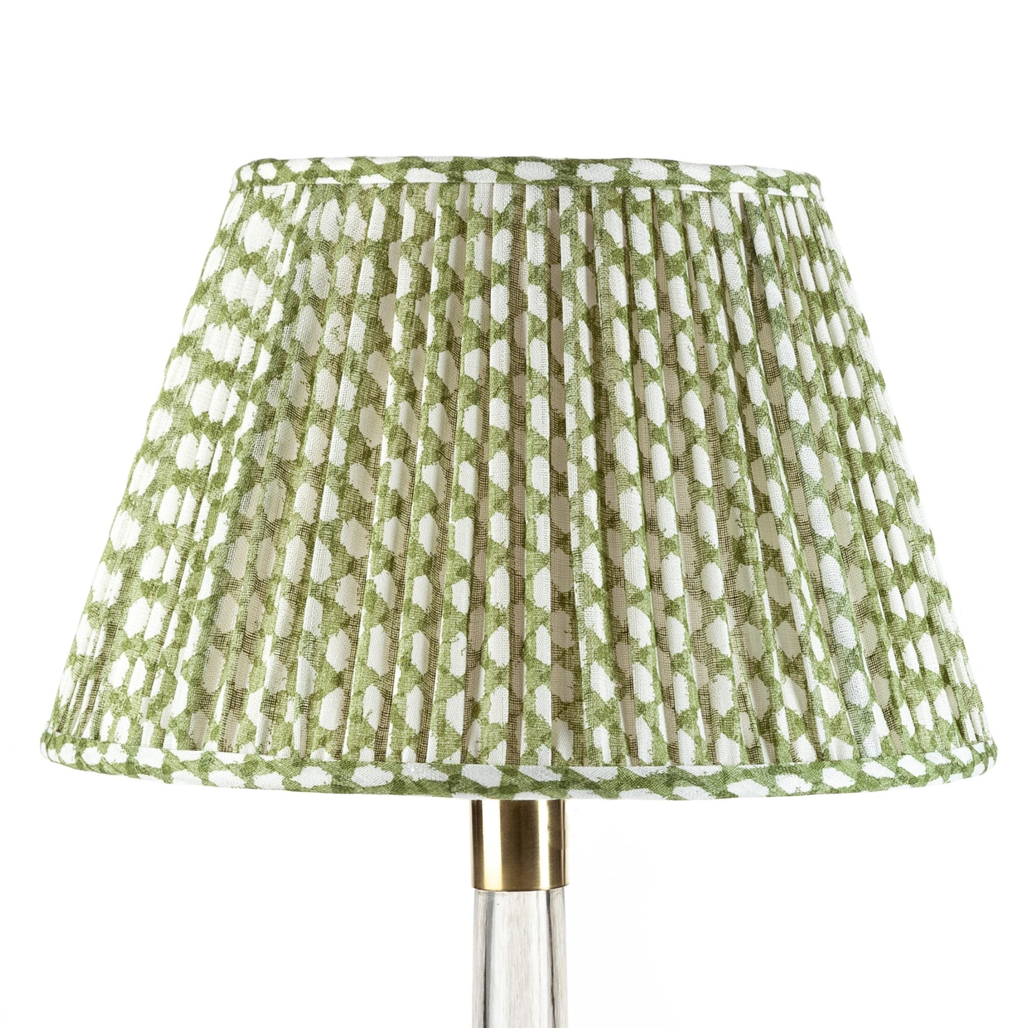 Fermoie Lampshade in Green Wicker