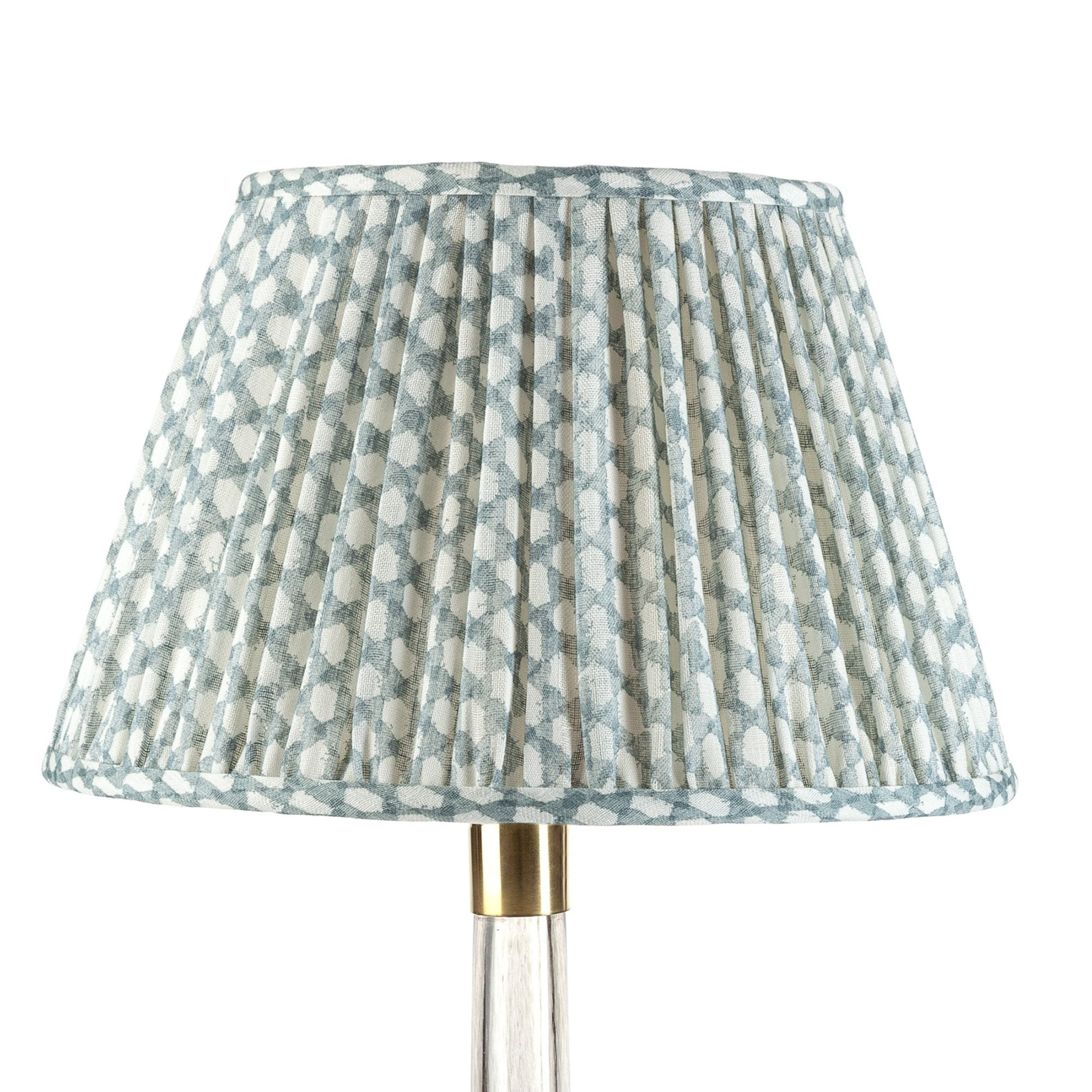 Fermoie Lampshade in Light Blue Wicker