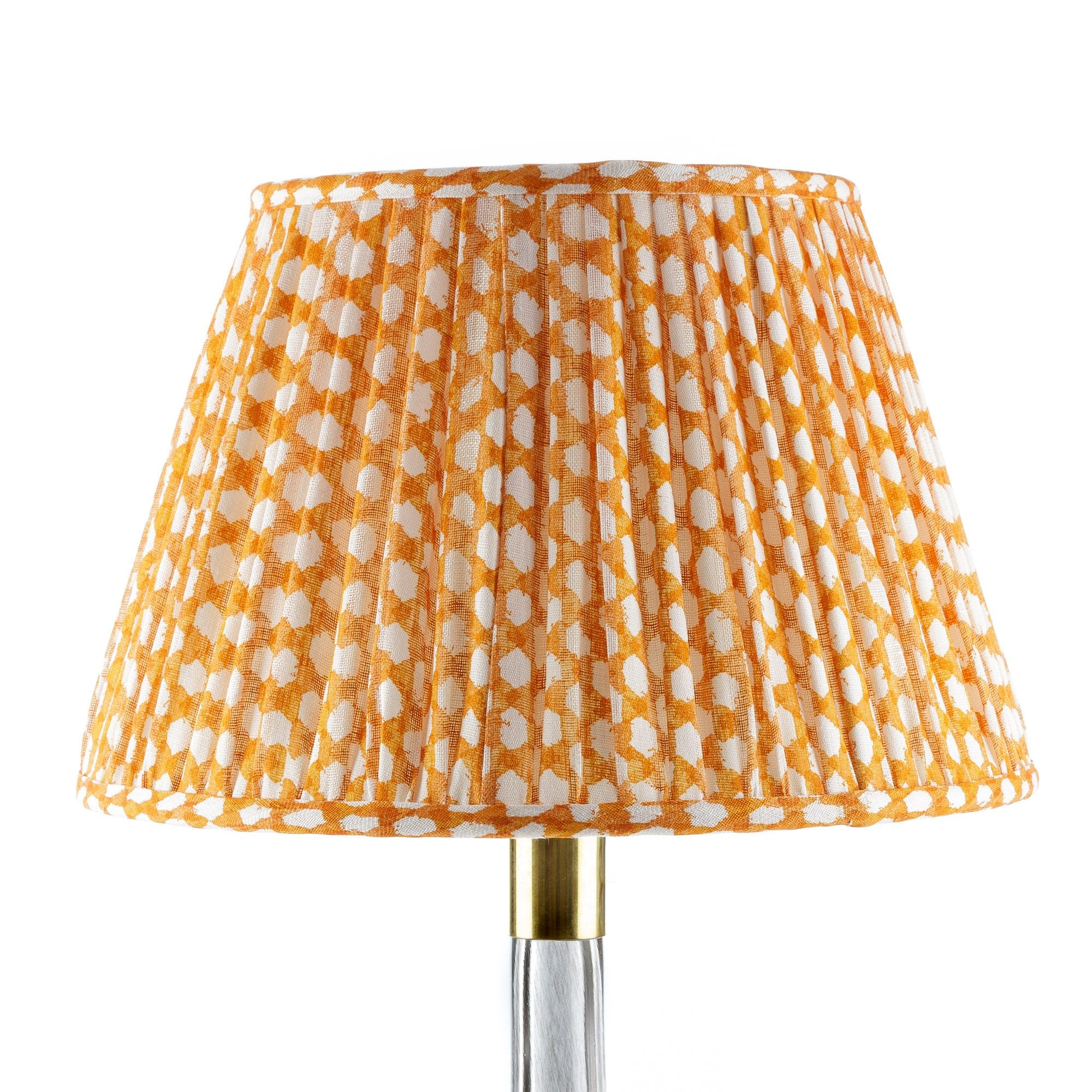 Fermoie Lampshade in Orange Wicker