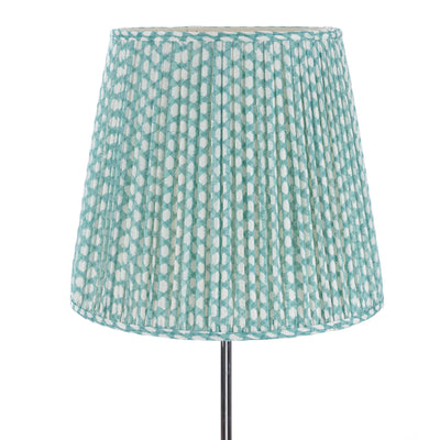 Fermoie Lampshade in Turquoise Wicker