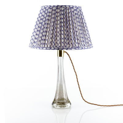 Fermoie Lampshade in Indigo Wicker