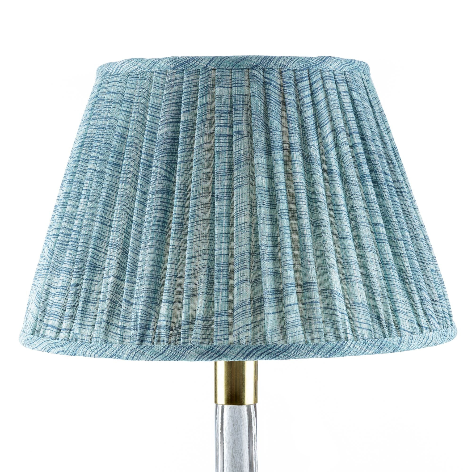 Fermoie Lampshade in Azure Blue Wave