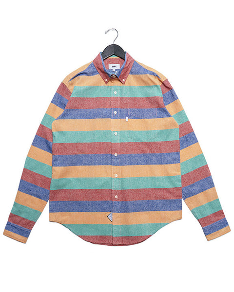 MULTI STRIPE LONG SLEEVE BUTTON DOWN