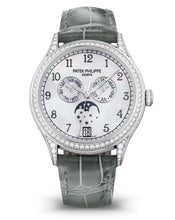 Load image into Gallery viewer, Authentic Patek Philippe Complications Annual Calendar White Gold Black 4948G-010 watch