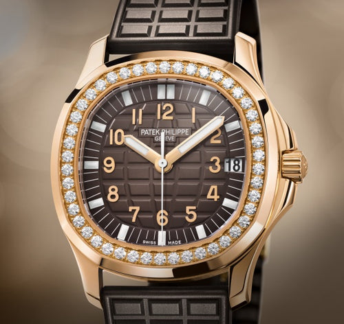 Pre-Owned 100% Genuine PATEK PHILIPPE Aquanaut Rose Gold Brown 5068R Watch