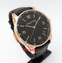 Load image into Gallery viewer, AP 15210OR.OO.A002CR.01 lacquered black dial pink gold case sapphire crystal