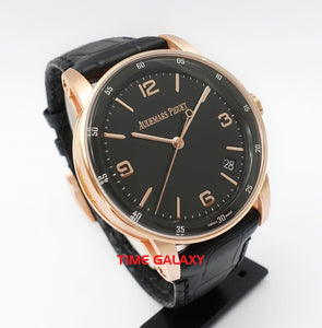AP 15210OR.OO.A002CR.01 lacquered black dial pink gold case sapphire crystal