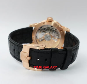 AP 15210OR.OO.A002CR.01 black alligator strap pink gold pin buckle