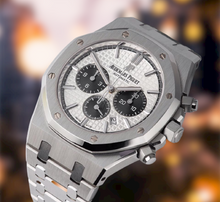 Load image into Gallery viewer, Buy Sell Audemars Piguet Royal Oak Chronograph Silver 26331ST at Time Galaxy