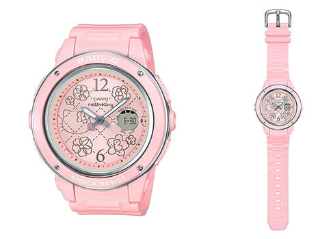 Brand new genuine Casio Baby-G special collaboration Hello Kitty 25th Anniversary limited edition pink colour wrist watch