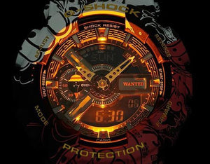 G-shock One Piece GA-110JOP digital analog timepieces with LED light