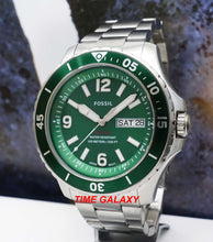 Load image into Gallery viewer, Fossil FB-02 Three-Hand Date Green FS5690