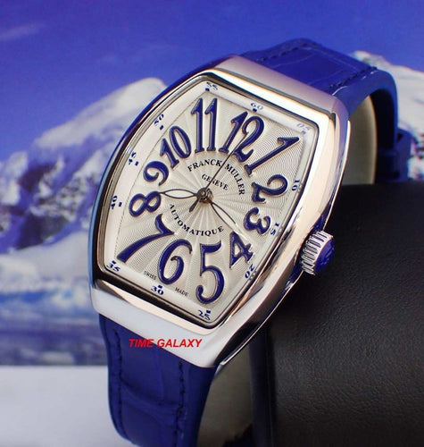 Brand New 100% Genuine FRANCK MULLER Vanguard V32 Automatic Blue Leather Ladies's Watch
