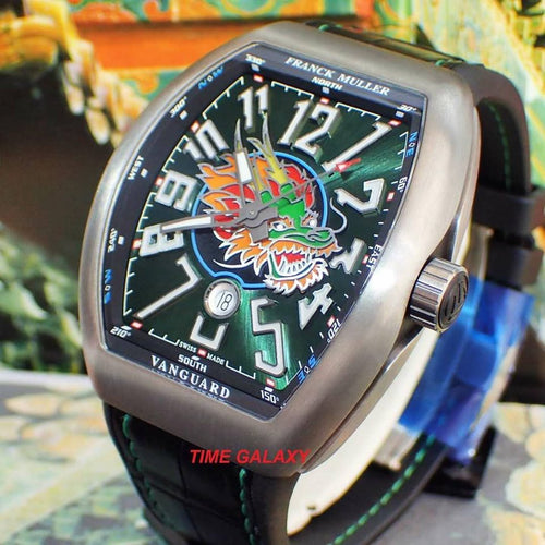 Brand New 100% Genuine FRANCK MULLER Vanguard Titanium V45 Dragon Men's Watch (Limited Edition)