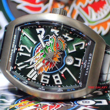Load image into Gallery viewer, Franck Muller Vanguard V45SCDTLTDDRGBRTT features emerald green dial and dragon symbol