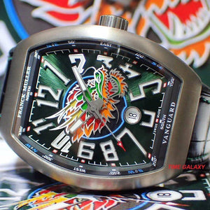 Franck Muller Vanguard V45SCDTLTDDRGBRTT features emerald green dial and dragon symbol
