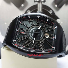Load image into Gallery viewer, Pre-Owned FM Vanguard v45scdtttnbr made of titanium black PVD, sapphire glass, curvex case with distinct numerals