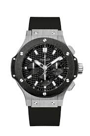 Authentic Hublot Big Bang Chronograph Steel Ceramic Black 301.sm.1770.rx Watch