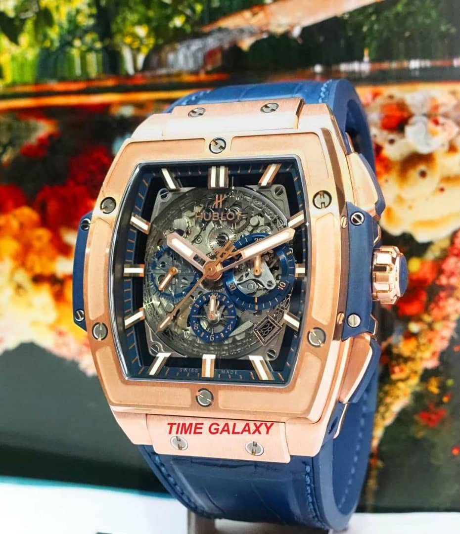 Hublot Spirit of Big Bang 18K King Gold Blue 601.OX.7180.LR