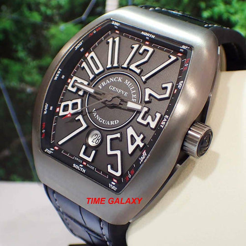 Brand New 100% Genuine FRANCK MULLER Vanguard Brushed Titanium Automatic Men's Watch