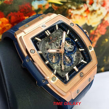 Load image into Gallery viewer, Pre-Owned 100% Genuine HUBLOT Spirit Of Big Bang 18k King Gold Blue Automatic Chronograph Watch