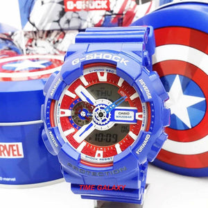 Genuine limited edition wrist watch G-shock x Captain America by Time Galaxy Online Watch Store Malaysia