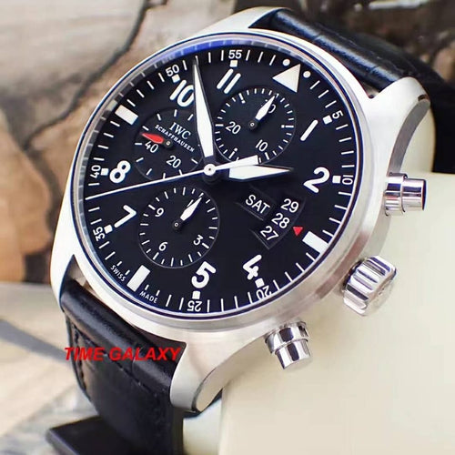 Pre-Owned 100% Genuine IWC Pilot's Chronograph IW377701 Watch