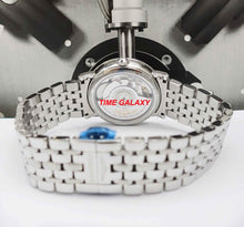 Load image into Gallery viewer, Longines L4.809.0.87.6 fitted with silver colour stainless steel bracelet with deployment clasp