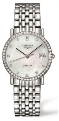 Authentic Longines Elegant Diamond MOP Bracelet L4.809.0.87.6