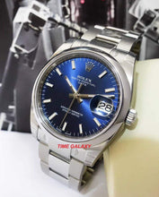 Load image into Gallery viewer, Buy Sell Rolex Oyster Perpetual Date Blue 115200 at Time Galaxy