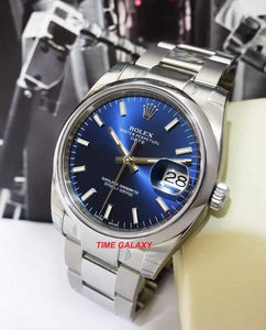 Buy Sell Rolex Oyster Perpetual Date Blue 115200 at Time Galaxy